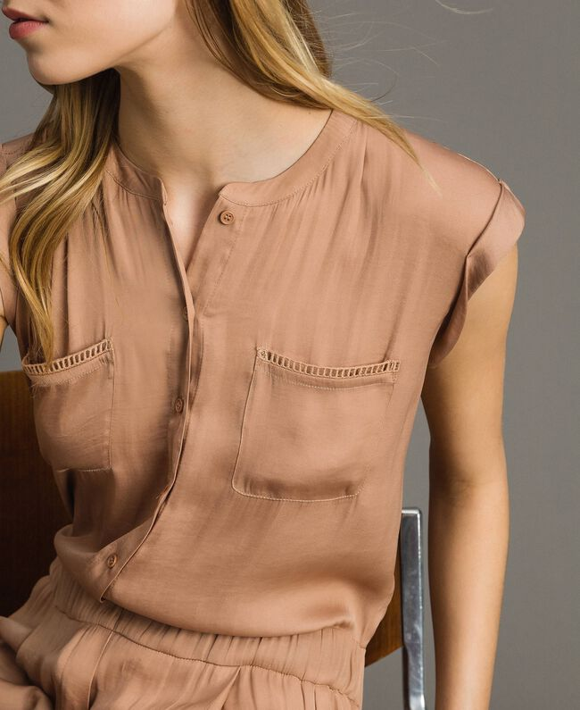 "Long jumpsuit with elasticated waistband ""Petra Sandstone"" Brown Woman 191LM2GDD-04"