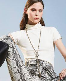 Collier en chaîne avec strass et pendentifs Cristal Femme 202TO5053-0S