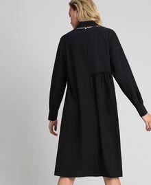 Robe chemisier avec sequins Noir Femme 192ST209C-04