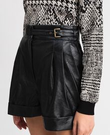 Faux leather shorts Black Woman 192TT203A-04
