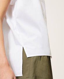 Oversize poplin shirt White Woman 211TT245E-05