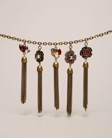 Collier avec charms floraux et pompons Or «Laiton Vieilli Cuivré» Femme 201TA430M-02