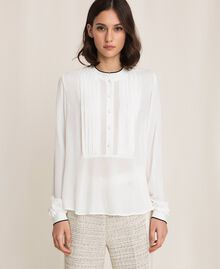 Crêpe de Chine shirt Ivory Woman 201TP2392-01