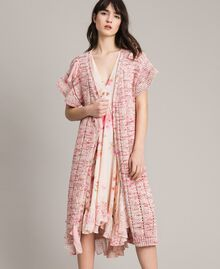 Long waistcoat with ribbons Multicolour Pink Pattern Woman 191TP3282-04
