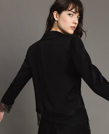 Veste blazer avec dentelle Noir Femme 191TP2731-03