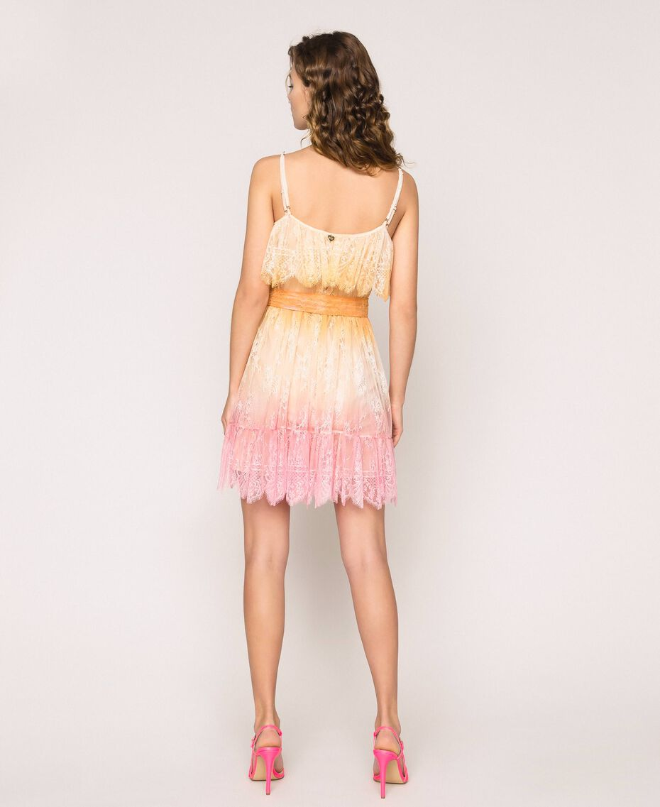 Robe en dentelle tie&dye Multicolore Tie Dye Rose Femme 201TT2281-03