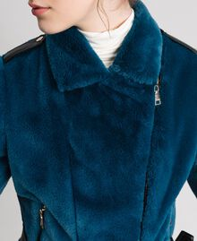 Perfecto en fausse fourrure Bleu «Lake» Femme 192MP2043-04