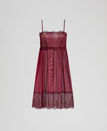 Tulle and lace slip Purple Red / Lead Grey Woman 192LI24YY-0S
