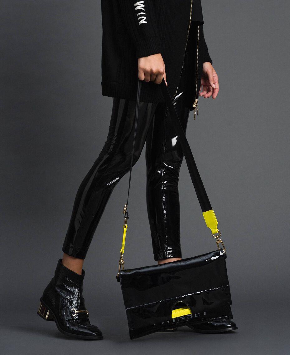 Маленькая складная сумка-шоппер из искусственной кожи Пыльный Розовый женщина 192TA7174-0S