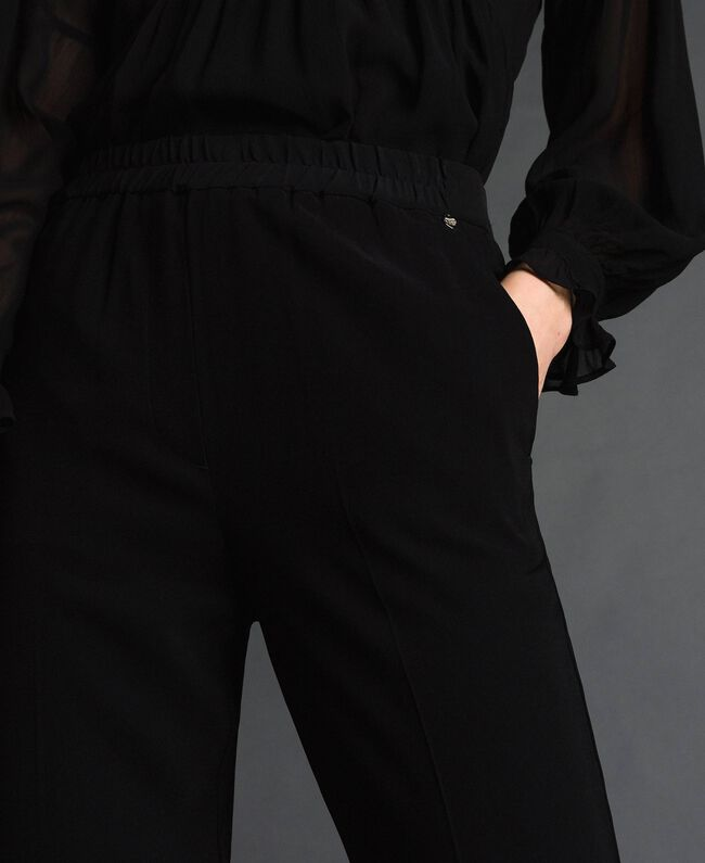 Georgette trousers Black Woman 192TP2387-04