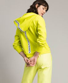 "Fleece jacket with inserts and logo ""Lemon Juice"" Yellow Woman 191LL28CC-03"