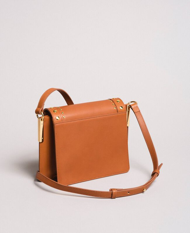 Leather Bea shoulder bag Leather Brown Woman 191TO8261-04