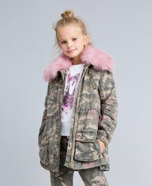 Parka in canvas stampato Stampa Camouflage Bambina GA82EA-02