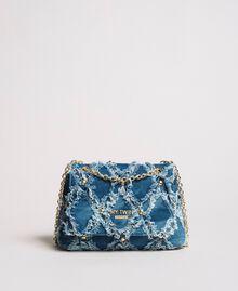 "Umhängetasche aus Jeans im Patchwork-Look ""Arabian Blue"" Blau Frau 191MA7083-04"
