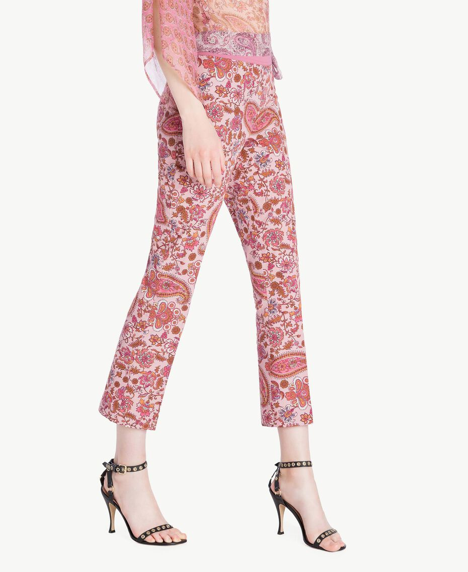 "Printed flared trousers ""Hippie Arabesque"" Print Woman TS82X3-02"