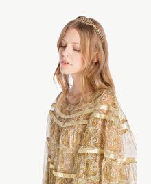 Robe soie Imprimé Jaune Grand Cachemire Femme TS825P-04