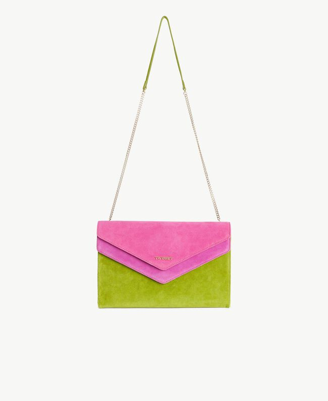 TWINSET Double flap shoulder bag Multicolour Kiwi / Provocateur Pink / Fuchsia Woman OS8TDP-01