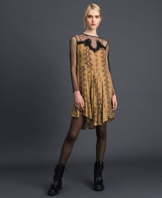 Georgette animal print dress