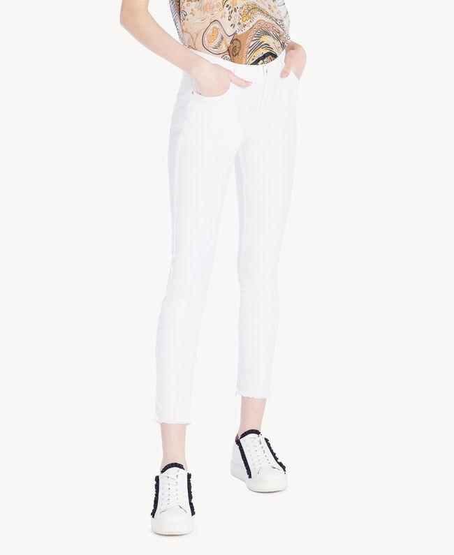 Pantalon skinny Blanc Femme SS82NA-01