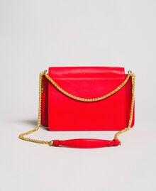 """Large leather shoulder Bea bag """"Ruby Butterfly"""" Red Woman 191TA7140-03"""