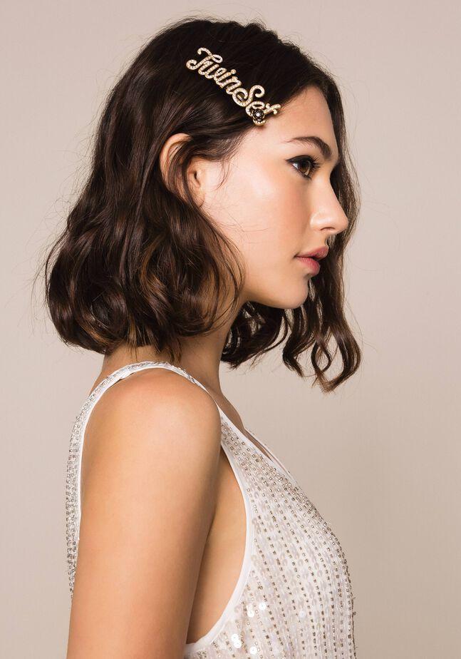 Haarspange mit Logo