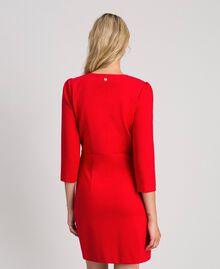 Robe fourreau avec boutons recouverts Rouge Coquelicot Femme 192MP2179-03
