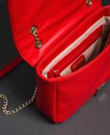 Shoulder bag with quilted hearts Poppy Red Woman 192MA7083-04