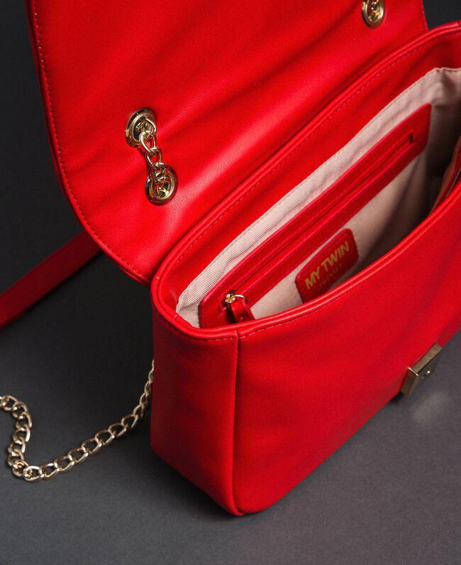 Borsa a tracolla con cuori trapuntati Rosso Papavero Donna 192MA7083-04