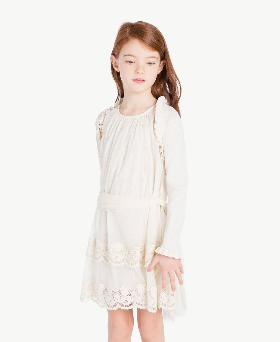Ruffled shrug Pale Cream Child GS8LA1-02