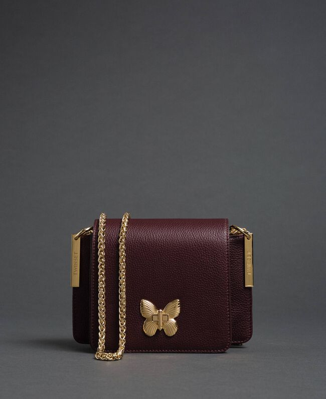 Petit sac à bandoulière Bea en cuir Rouge Betterave Femme 192TA7021-01