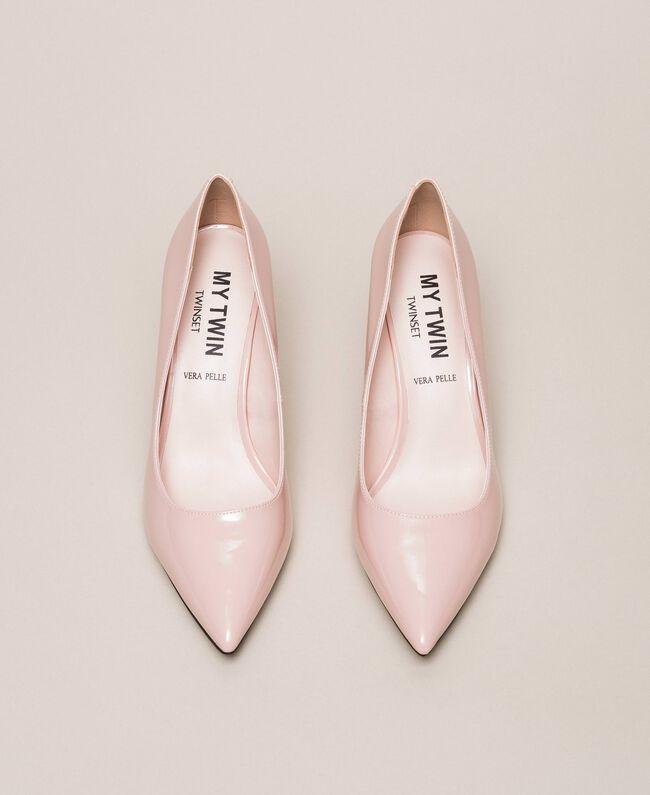 Patent leather court shoes Quartz Pink Woman 201MCP01L-05