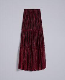 Valencienne lace long skirt Bordeaux Woman PA82FZ-0S
