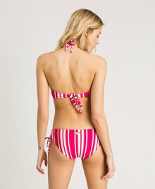 "Striped high bikini bottom with plaiting Pink / ""Tangerine Cream"" Pink Multicolour Striping Woman 191LBMA99-03"