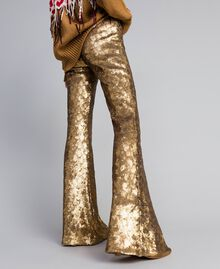 Sequined trousers Gold Yellow Woman QA8TEF-01