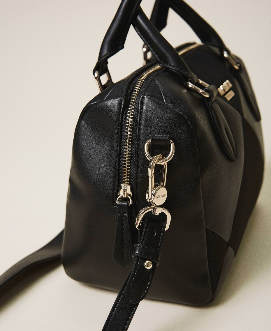 Faux leather bowler bag Cherry Red Woman 202MA7022-03
