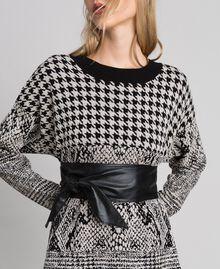 Faux leather sash belt Black Woman 192ST4016-0S