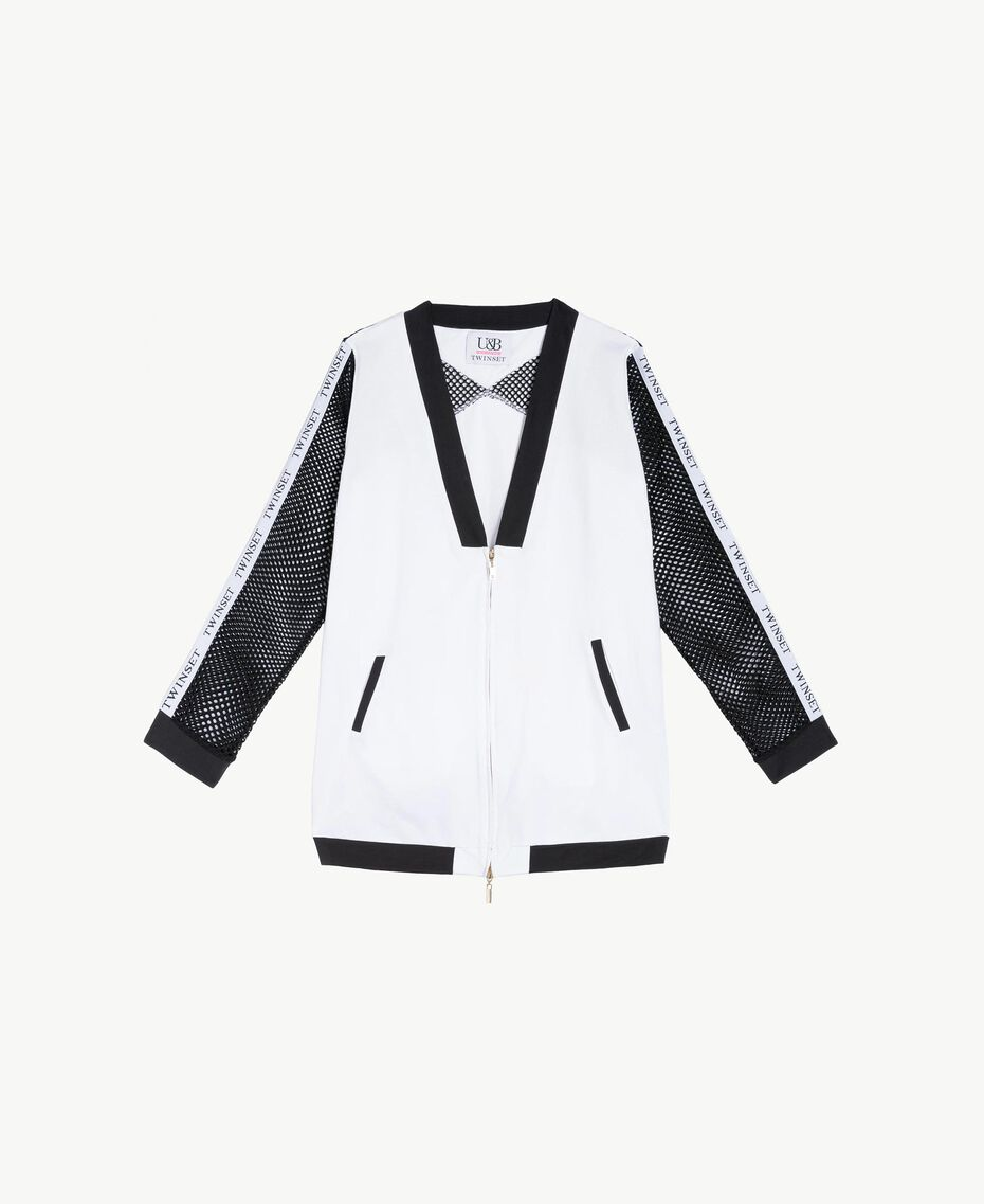 Mesh bomber Optical White / Black Woman LS87DD-01