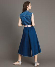 Jean à coupe large et taille haute Bleu Denim Femme 191MT2422-03