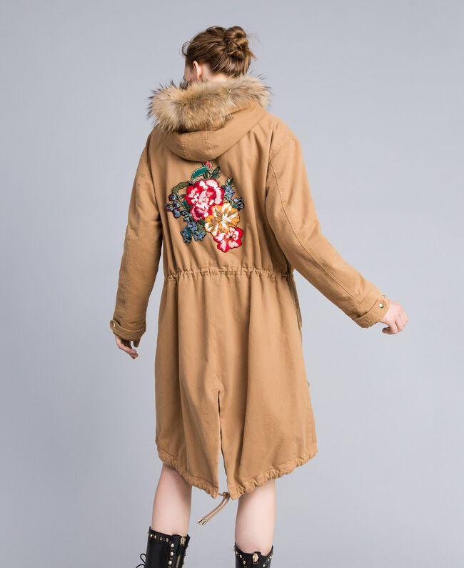Cotton drill parka Camel Woman PA82L7-01