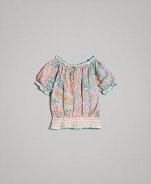 Viscose blouse with paisley print Paisley Print Child 191GB2511-0S