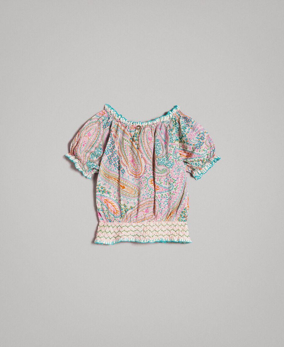 Viskose-Bluse mit Paisley-Aufdruck Motiv Paisley Kind 191GB2511-0S