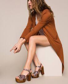 Animal print faux leather clog sandals Wild Rose Python Print Woman 201MCT01C-0S