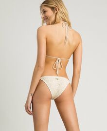 "Crochet trikini with little bows ""Milkway"" Beige Woman 191LMMNWW-03"