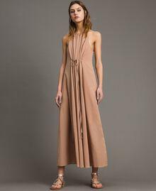 """Robe longue avec bretelles fines Marron """"Grès de Pétra"""" Femme 191LM2HAA-01"""