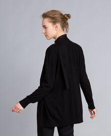 Silk and cashmere cardigan Black Woman PA83GG-02