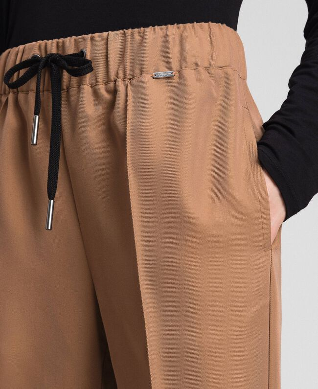 """Jogging trousers with elastic and drawstring """"Sequoia"""" Beige Woman 192ST2203-04"""