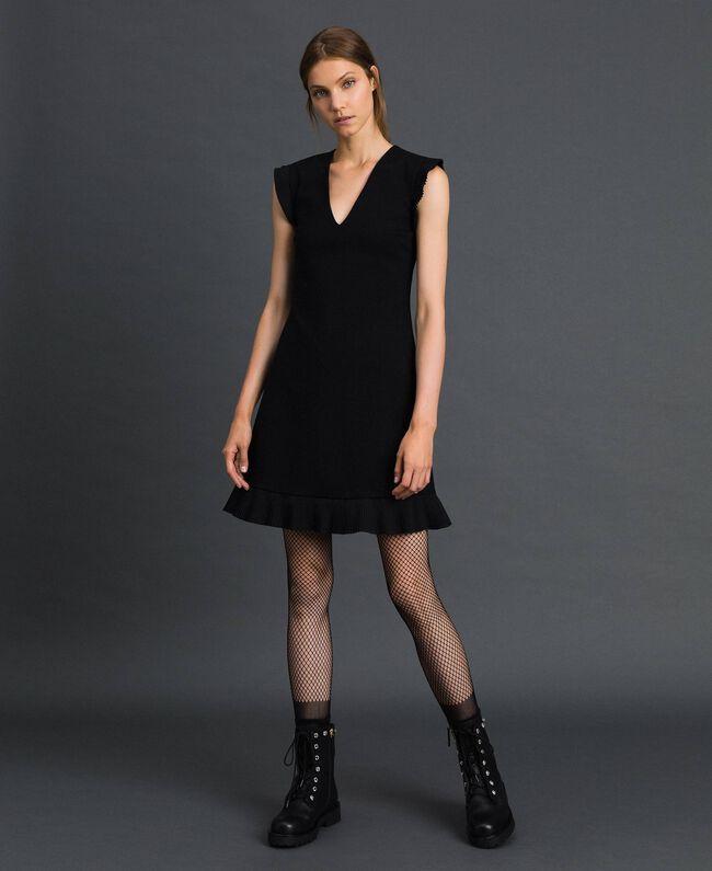 Robe avec détails plissés Noir Femme 192TT2061-01
