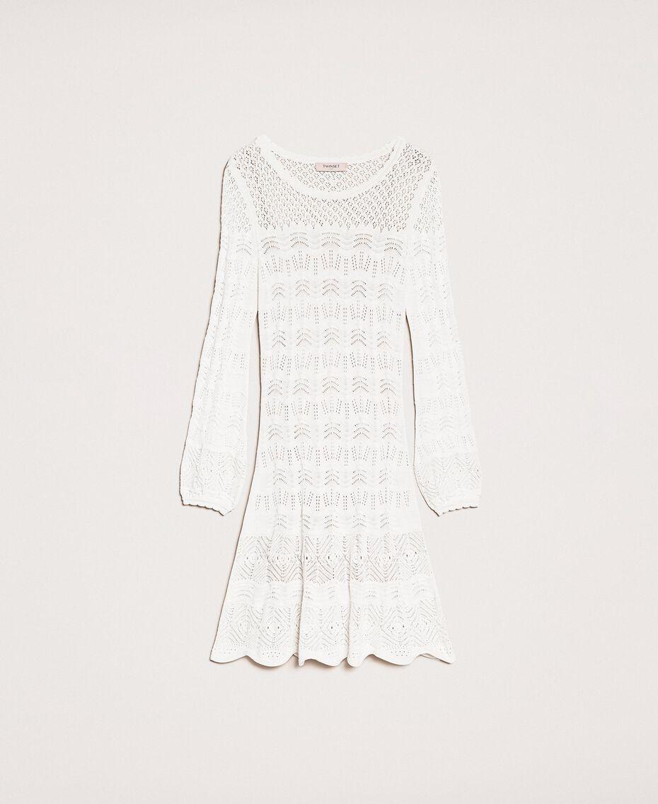 Ажурное трикотажное платье Белый Снег женщина 201TP3210-0S