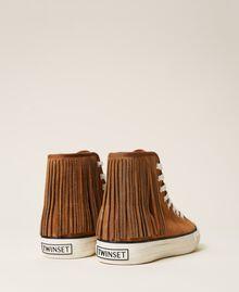 Ledersneaker mit Fransen Leder Frau 212TCP100-05