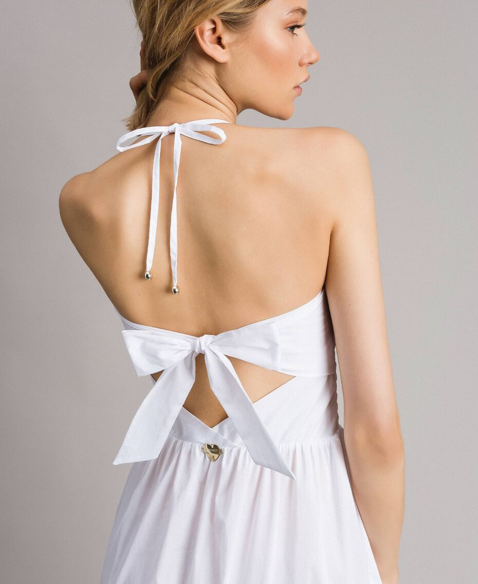 """Robe longue en popeline """"Jus d'Orange"""" Femme 191LM2CHH-05"""
